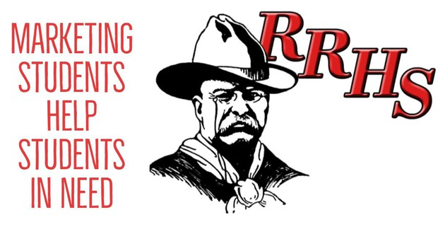 Marketing Students Help Students in Need with the Red River High School Theodore Roosevelt logo.