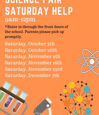 Science Fair Saturday dates!