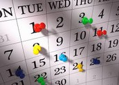 Calendar Items of Note