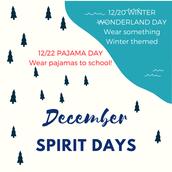 12/20 - Winter Wonderland Day & 12/22 - Pajama Day