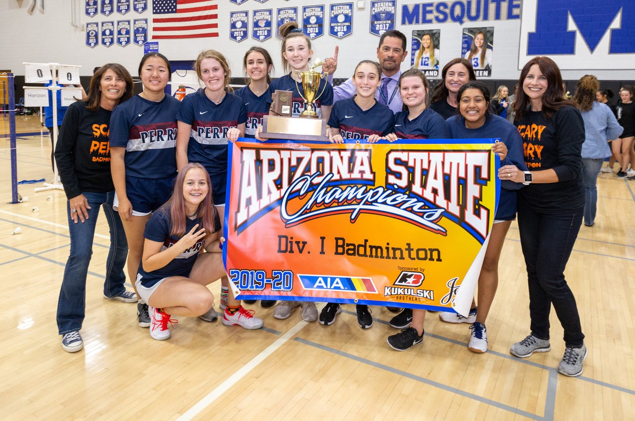 Perry badminton wins State Division I Championship