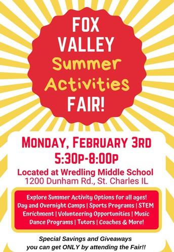 Feria de actividades veraniegas de Fox Valley