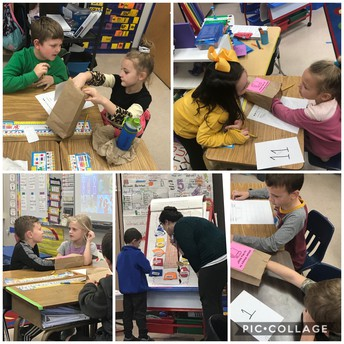 Mystery Math Bags in 1st Grade!