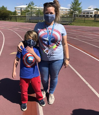 SUPER HEROES MS. HEIGHTON AND COLTON