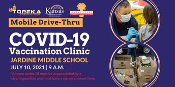 COVID-19 Vaccination Clinic at Jardine Middle School, 9:00 AM on July 10