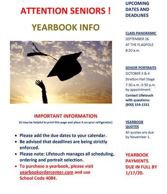Yearbook Info
