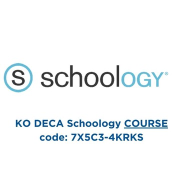 Add yourself to the KO DECA Schoology Course