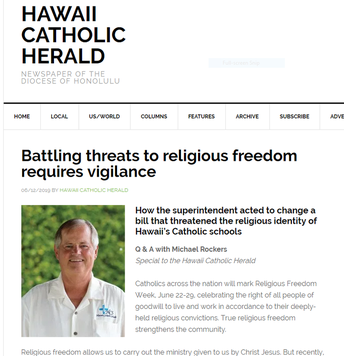 BATTLING THREATS TO RELIGIOUS FREEDOM REQUIRES VIGILANCE