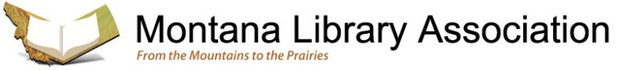 Montana Library Association Logo and Tagline