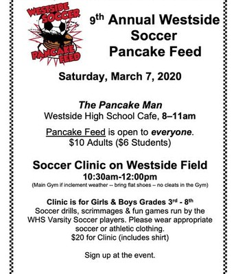 9th Annual Westside Soccer Pancake Feed