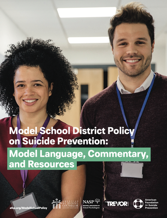 Model School District Policy on Suicide Prevention