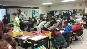 McKinley students read to Mrs. Dorrance's class