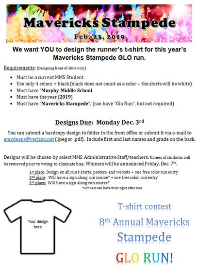 Murphy Middle School PTA - Plano ISD, TX - Glo Run T-shirt