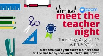 Meet the Teacher - Aug 13th