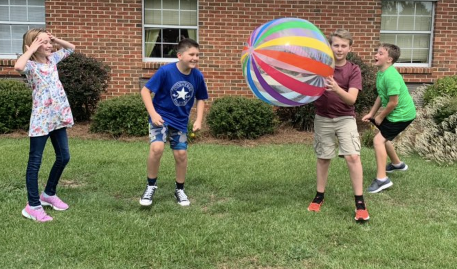Giant beach ball fun at EES