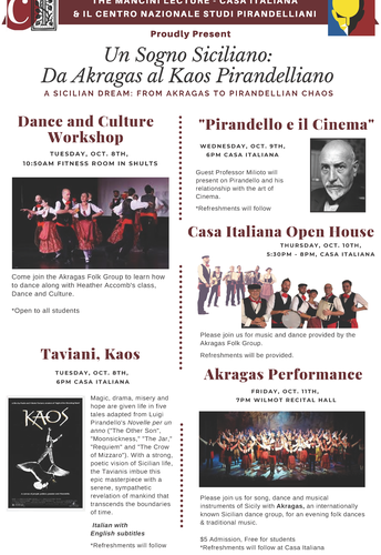 "Sicilian Folk Group ""Akragas"" visits Nazareth the week of October 7th-12th!"