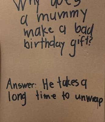 Why Does a Mummy Make a Bad Birthday Gift?