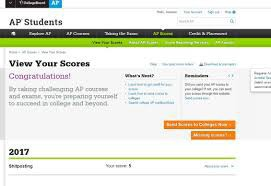 How to access your AP scores