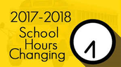 NEW SCHOOL HOURS FOR 2017-2018