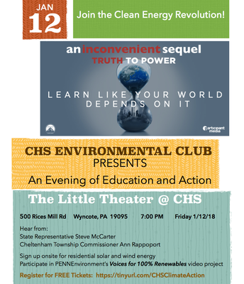 """An Inconvenient Sequel"" @ the CHS Little Theater - Tonight"