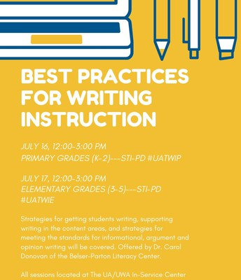July 17: Best Practices for Writing Instruction