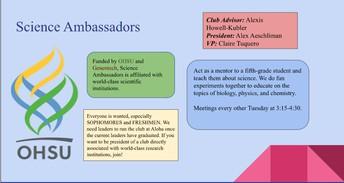 Science Ambassadors