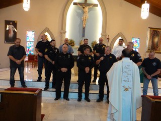 Fr. Thumma asked us to pray for those that protect us