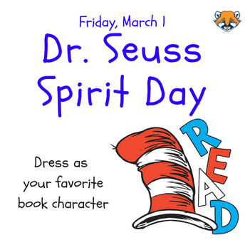 Spirit Day for Read Across America Day March 1