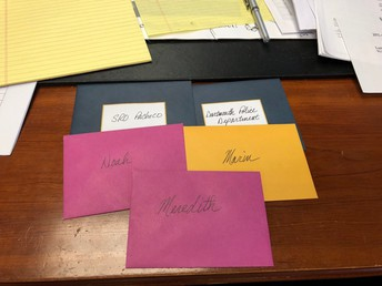 Showing gratitude with handwritten thank you notes for our student leaders