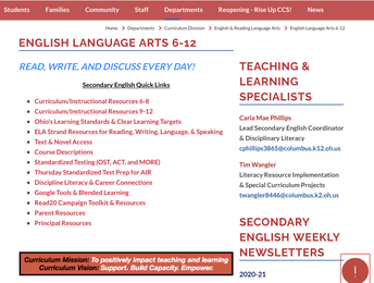 Webpage/Curriculum/Resources