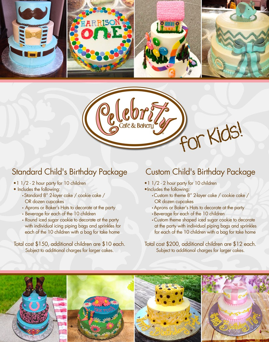 Birthday Parties - Celebrity Bakery | Smore Newsletters for Business