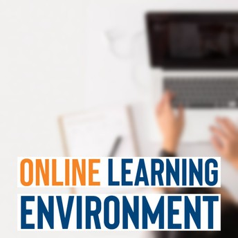 online learning environment graphic
