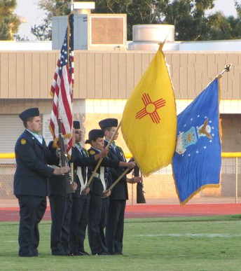 """Who is """"Color Guard"""" and what do the traditions mean in the presentation of the flag at the Veteran's Day Celebration?"""