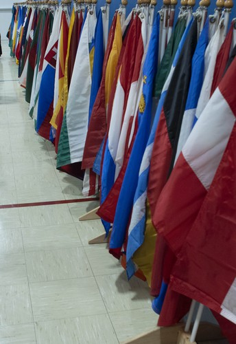 PTO Sponsored World Peace Flag Ceremony and Peace Pole