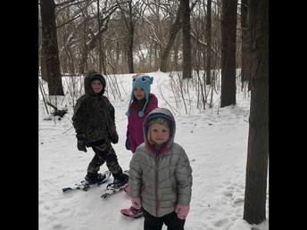 Whitley, Kayleigh, & Georgie Snowshoeing!