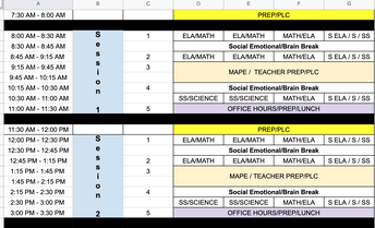 Sessions, Schedules & Attendance