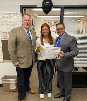 Congrats to Mrs. Longoria! District Professional of the Year!