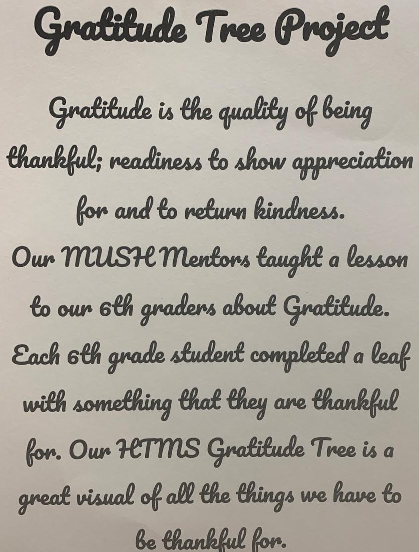 MUSH Mentors taught gratitude lesson