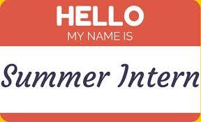 2019 SUMMER INTERNSHIP