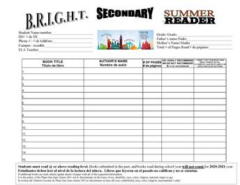 Bright Summer Reader Program