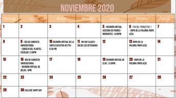 Haga clic en el siguiente enlace para ver la versión imprimible del calendario de noviembre.