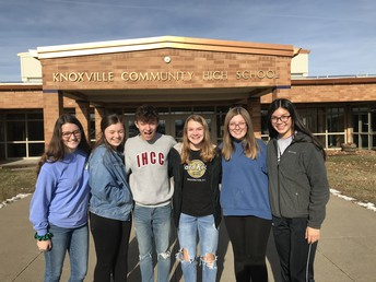 TAG Students Present Donations to MCHS