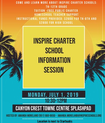 Inspire Charter School Info Session RIVERSIDE