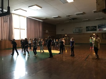 "Ms. Tantardino's 5th graders learning how to ""bust a  move!"""