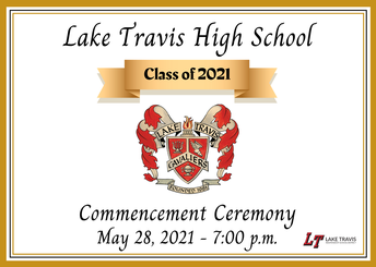 Lake Travis High School Commencement Ceremony scheduled for Friday, May 28