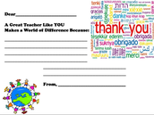 Teacher - Thank you Template