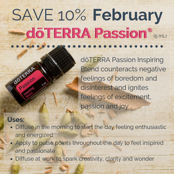 Passion is 10% off for the month