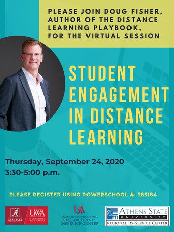 September 24: Student Engagement in Distance Learning with Dr. Douglas Fisher