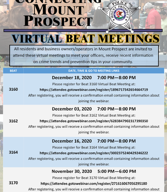 MPPD Virtual Beat Meetings