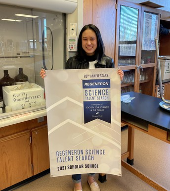 Unionville High School Student Named one of Top 300 Student Scientists in the Nation